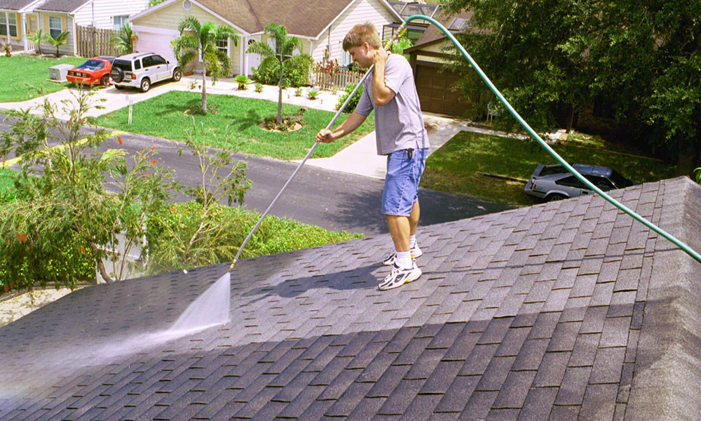 Which cleaning technique is most productive for your roof?