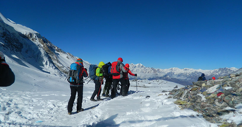 Annapurna circuit trek in Nepal