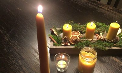Beeswax Candle Sticks and Paraffin