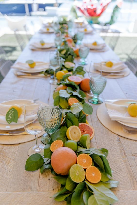 the-fresh-fruit-with-leaves-on-the-table-top