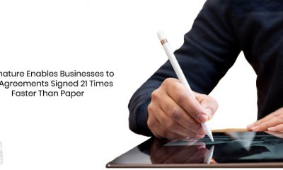ESignature Enables Businesses to Get Agreements Signed 21 Times Faster Than Paper
