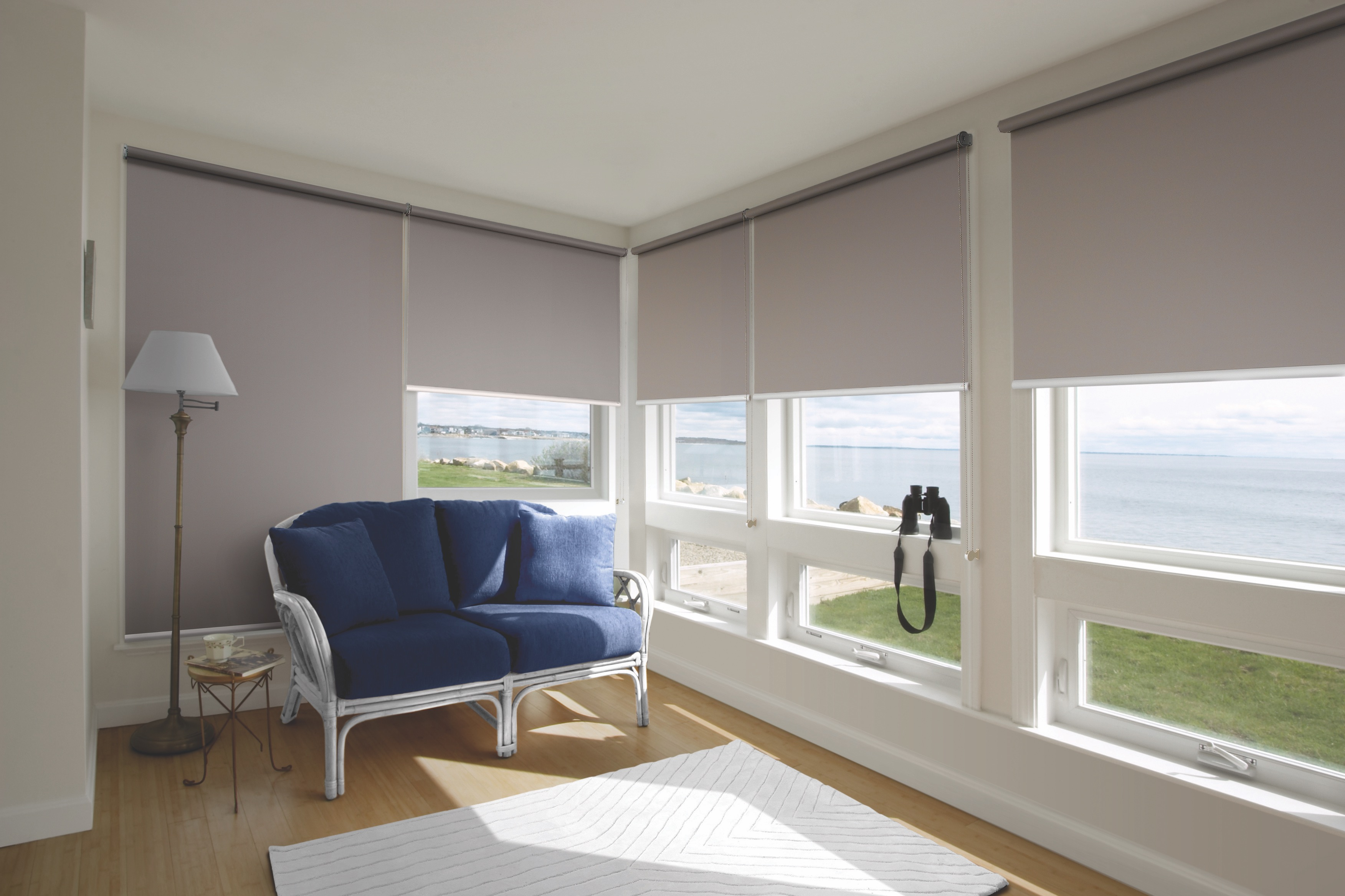The meticulously designed Roller blinds gives the best protection of sun rays and privacy