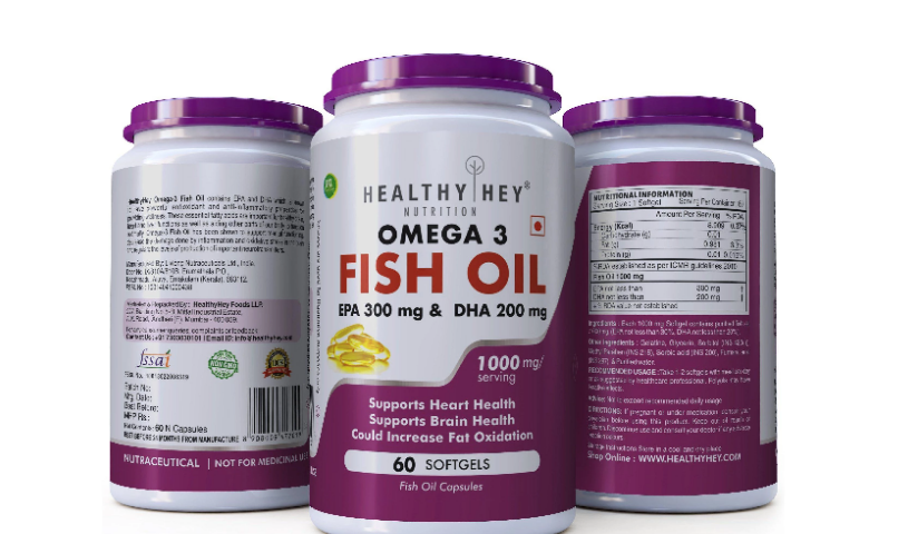 Omega 3 Fish Oil Capsules And Coffee Beans For Weight Loss