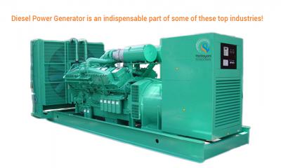 Diesel Power Generator is an indispensable part of some of these top industries!