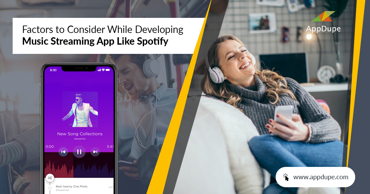 Factors to Consider While Developing Music Streaming App like Spotify