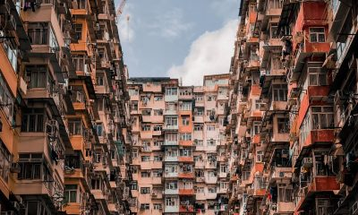 A building with small apartments. Decoration tips for Hong Kong nano apartments could help them feel more spacious.