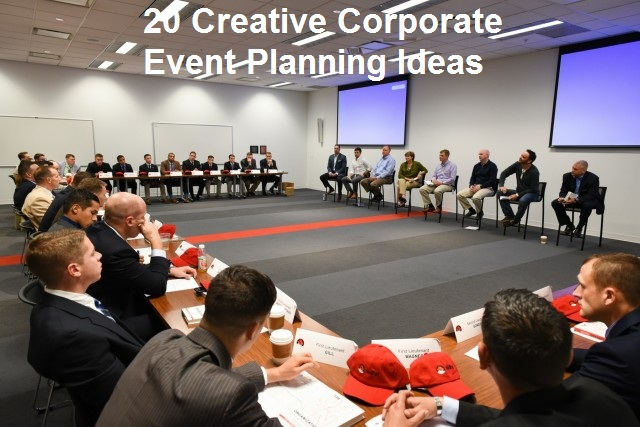 20 Creative & Interactive Corporate Event Planning Ideas to Implement