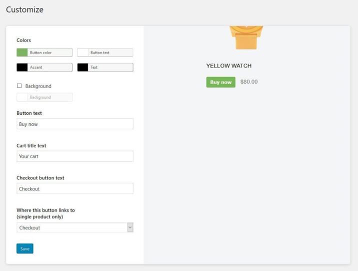 Buying Button of Shopify