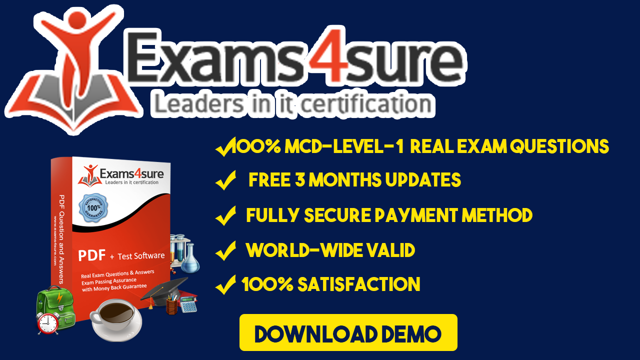 Get MCD-Level-1 Exam Dumps Today | Pass Exam in Striking First Attempt